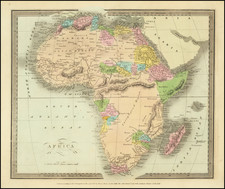 Africa Map By David Hugh Burr