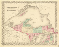 Lake Superior and the Northern Part of Michigan By Joseph Hutchins Colton