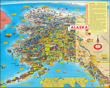 Alaska and Pictorial Maps Map By Don Bloodgood