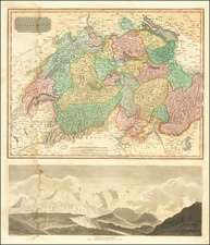 Europe and Switzerland Map By John Thomson