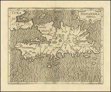 Hispaniola Map By Cornelis van Wytfliet
