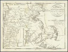 Massachusetts Map By Jedidiah Morse