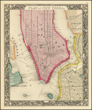 Plan of New York &c. By Samuel Augustus Mitchell Jr.