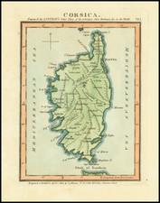 Corsica Map By John Luffman