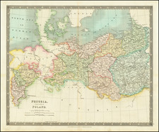 Poland and Germany Map By Henry Teesdale