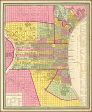 Philadelphia Map By Samuel Augustus Mitchell