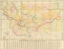 Montana Map By Rand McNally & Company / Montana Railroad Commission