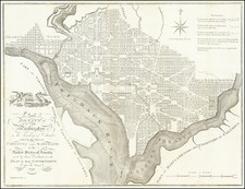 Plan of the City of Washington in the Territory of Columbia ceded by the States of Virginia and Maryland to the United States of America and by them established as the Seat of their Government after the Year 1800 By John Reid