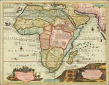 Africa Map By Nicolas de Fer