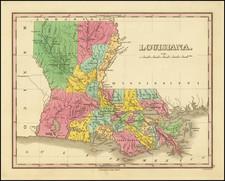 Louisiana Map By Anthony Finley