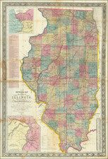 Illinois and Missouri Map By John Mason Peck  &  John Messinger  &  A. J. Mathewson