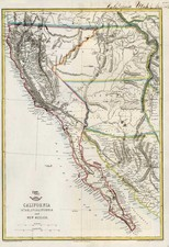 Southwest, Rocky Mountains, Baja California and California Map By Theodore Ettling
