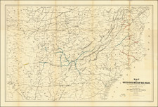 United States, South, Southeast, Midwest and Civil War Map By Julius Bien