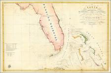 Florida, Cuba and Bahamas Map By Direccion Hidrografica de Madrid