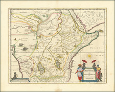 East Africa and West Africa Map By Willem Janszoon Blaeu