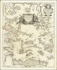 Greece Map By Giacomo Giovanni Rossi - Giacomo Cantelli da Vignola