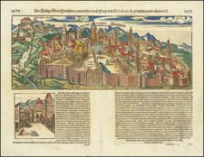 Holy Land and Jerusalem Map By Sebastian Munster