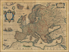 Europe Map By Henricus Hondius