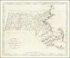 Massachusetts Map By John Reid