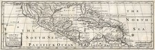 Southeast, Texas, Caribbean and California Map By Antonio de Herrera y Tordesillas