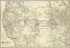 United States, Kansas, Nebraska, Colorado, Utah, Nevada, Colorado, Idaho, Montana, Utah, Wyoming, Oregon and California Map By G.W.  & C.B. Colton