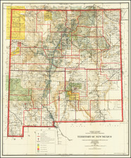New Mexico Map By General Land Office