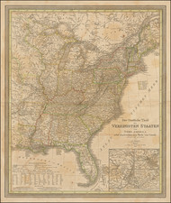 United States Map By Carl Ferdinand Weiland