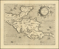 Mexico and Central America Map By Cornelis van Wytfliet