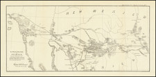 Arizona, New Mexico and California Map By U.S. War Department