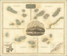 Portugal and African Islands, including Madagascar Map By John Thomson