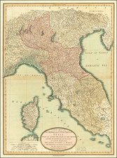 Northern Italy and Corsica Map By Laurie & Whittle