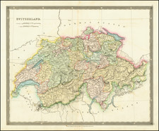 Switzerland Map By Henry Teesdale