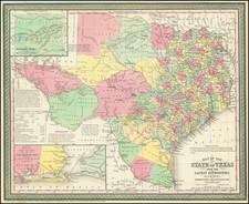 Texas Map By Cowperthwait, Desilver & Butler