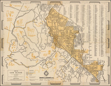 Pictorial Maps, San Francisco & Bay Area and Other California Cities Map By Goodrich-MacKenzie