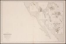 Mexico, Baja California and California Map By Aime Robiquet