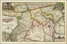 Cyprus, Middle East and Holy Land Map By Claes Janszoon Visscher