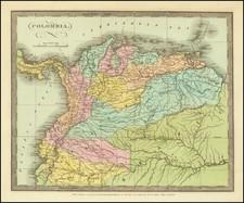 Colombia, Peru & Ecuador and Venezuela Map By David Hugh Burr