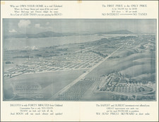 San Francisco & Bay Area and Other California Cities Map By W.H. Bull