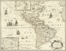 Alaska, South America and America Map By Petrus Bertius / Michel Van Lochem