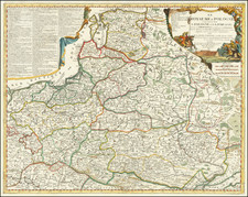 Poland, Ukraine and Baltic Countries Map By Jean-Baptiste Nolin