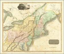 New England, New York State and Mid-Atlantic Map By John Thomson