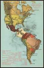 Pictorial Maps and America Map By I. L.  Maduro