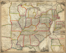 United States and Texas Map By Sherman & Smith