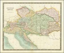 Austria and Hungary Map By Henry Teesdale