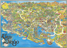 Pictorial Maps and San Diego Map By Kim Forrest