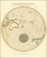 Southern Hemisphere, Polar Maps, Australia and Oceania Map By John Thomson