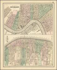 Louisiana, Missouri and New Orleans Map By O.W. Gray