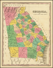 Georgia Map By Anthony Finley