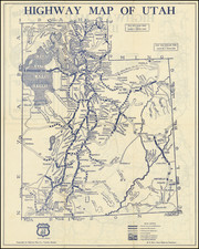 Utah, Idaho and Utah Map By Highway Map Company