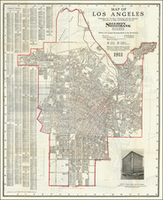 Los Angeles Map By Los Angeles Map & Address Co.